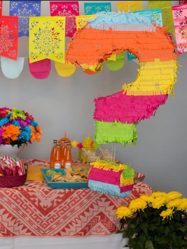 how to make a gender reveal pinata baby gender reveal fiesta rh pinterest com