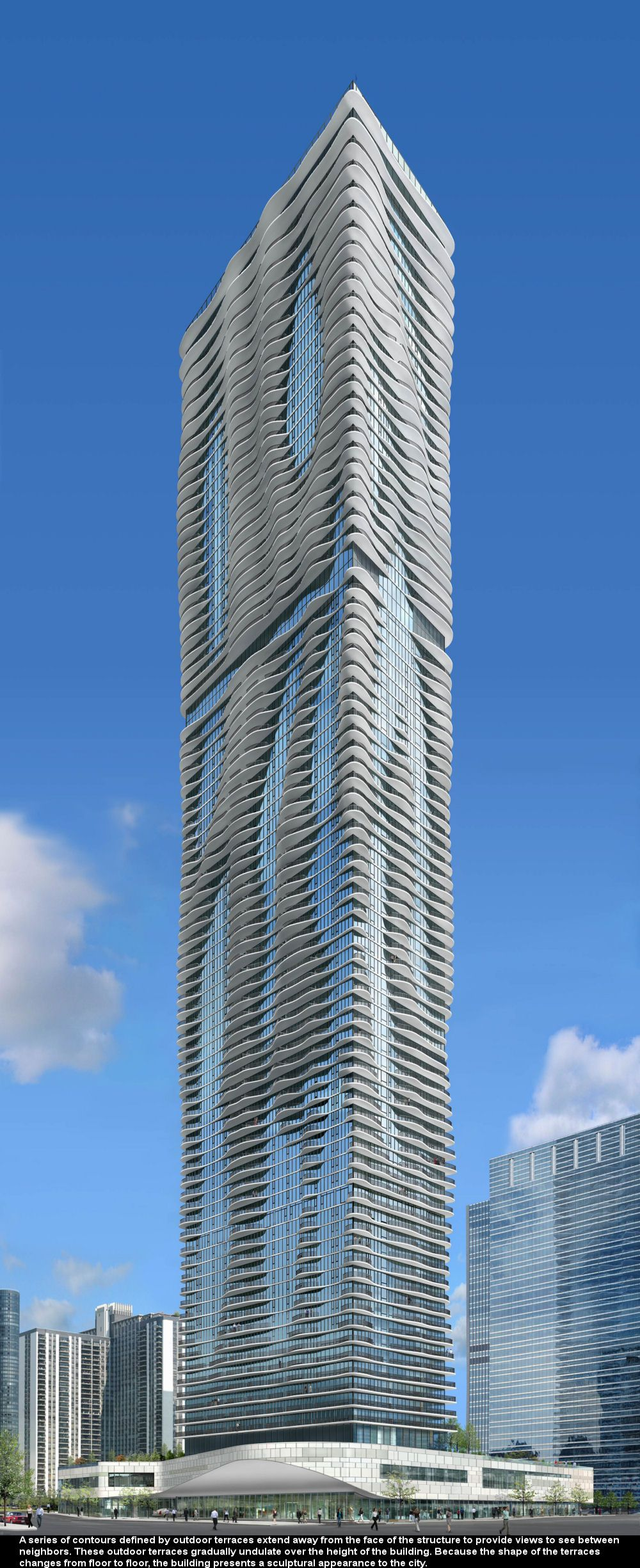 Modern Architecture Chicago aqua tower, chicago, united states | architecture, skyscrapers and