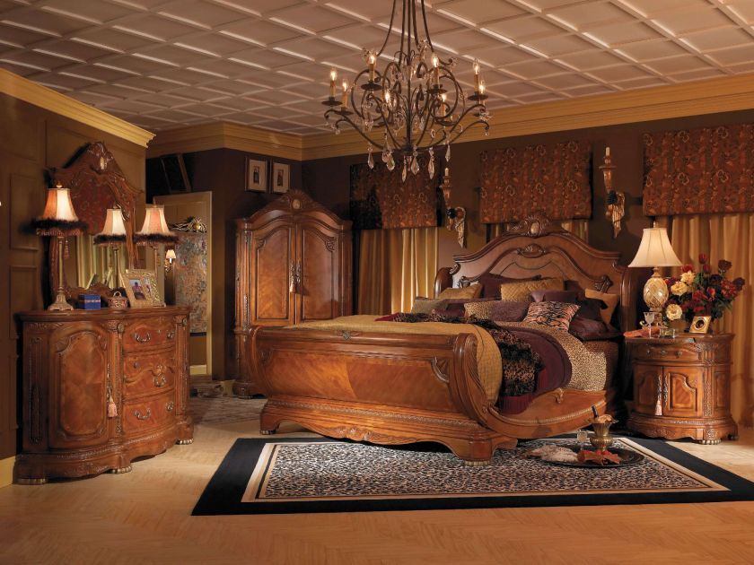 luxury king size bedroom sets sleigh