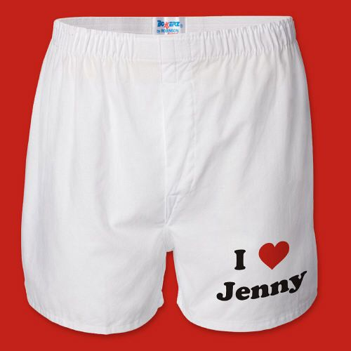 i have a heart on personalized boxers valentines boxer shorts with custom name