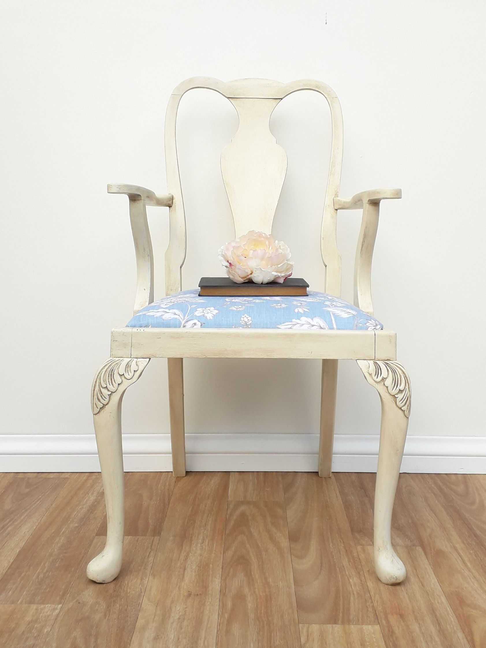 gorgeous arm chair painted in annie sloan old white chalk paint and rh pinterest com
