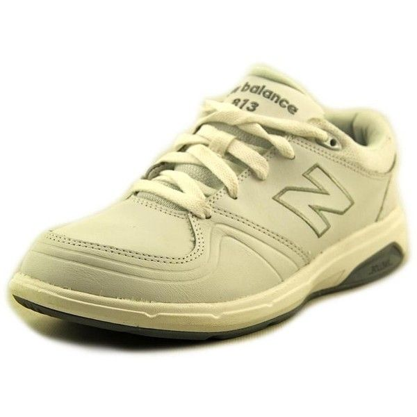 New Balance WW813 Women Walking Shoes (€36) ❤ liked on Polyvore featuring shoes, athletic shoes, white, leather walking shoes, synthetic shoes, new balance, long shoes and white leather shoes