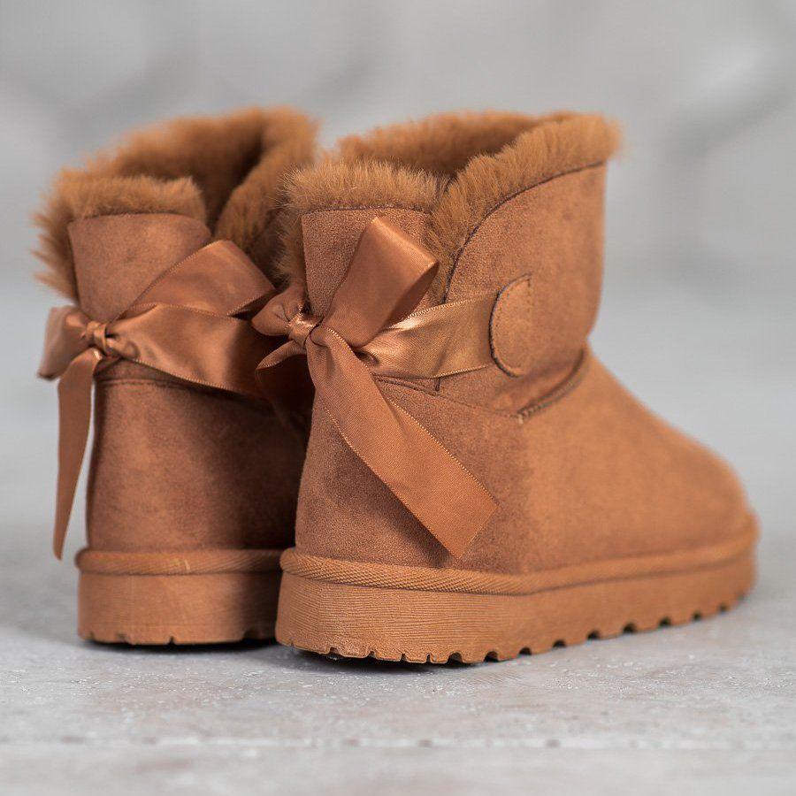 Shelovet Cieple Mukluki Z Kokardka Brazowe Ugg Boots Boots Uggs