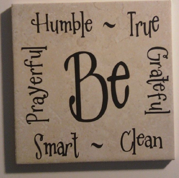 Be words 6x6 vinyl on tile diy or with a friend for Vinyl sayings for crafts