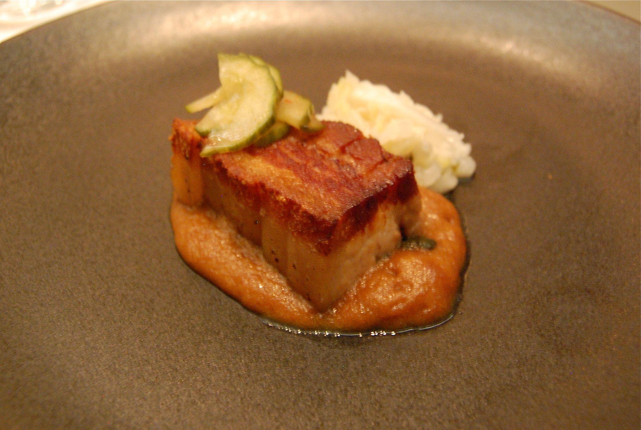 Five Senses Pork (오감만족 돼지보쌈) @Jungsik, NYC (March 2012)