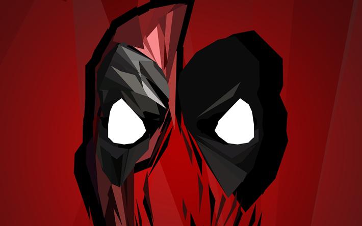 Download Wallpapers Deadpool 4k Minimal Superheroes Mask
