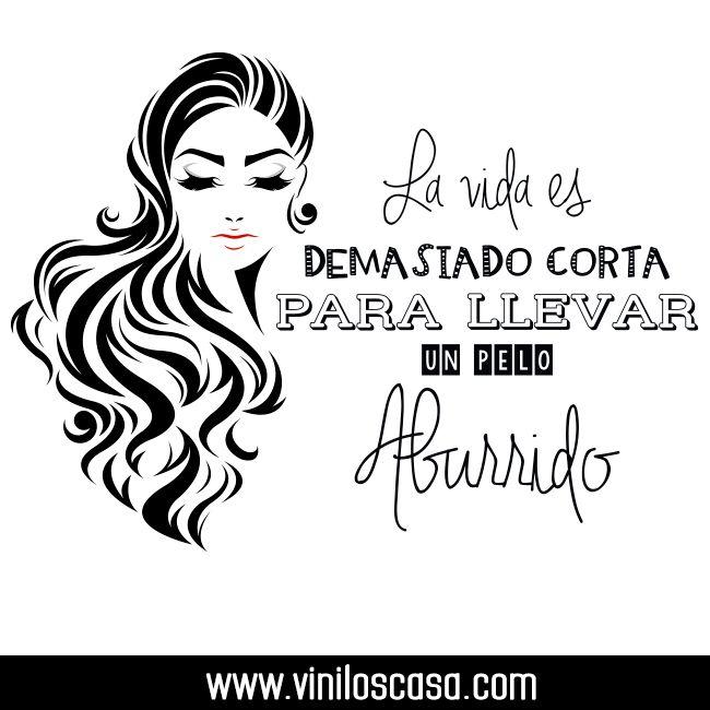 Vinilos frases para peluquer as precios de f brica www for Vinilos para pared precios