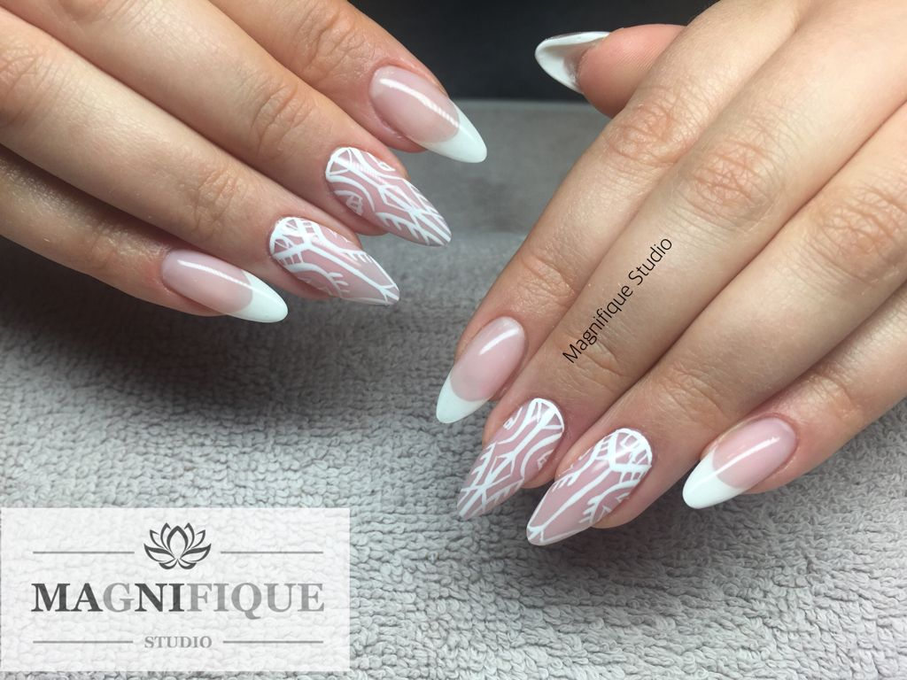 French nails White Wedding Aztec naildesign | Nail Design ...