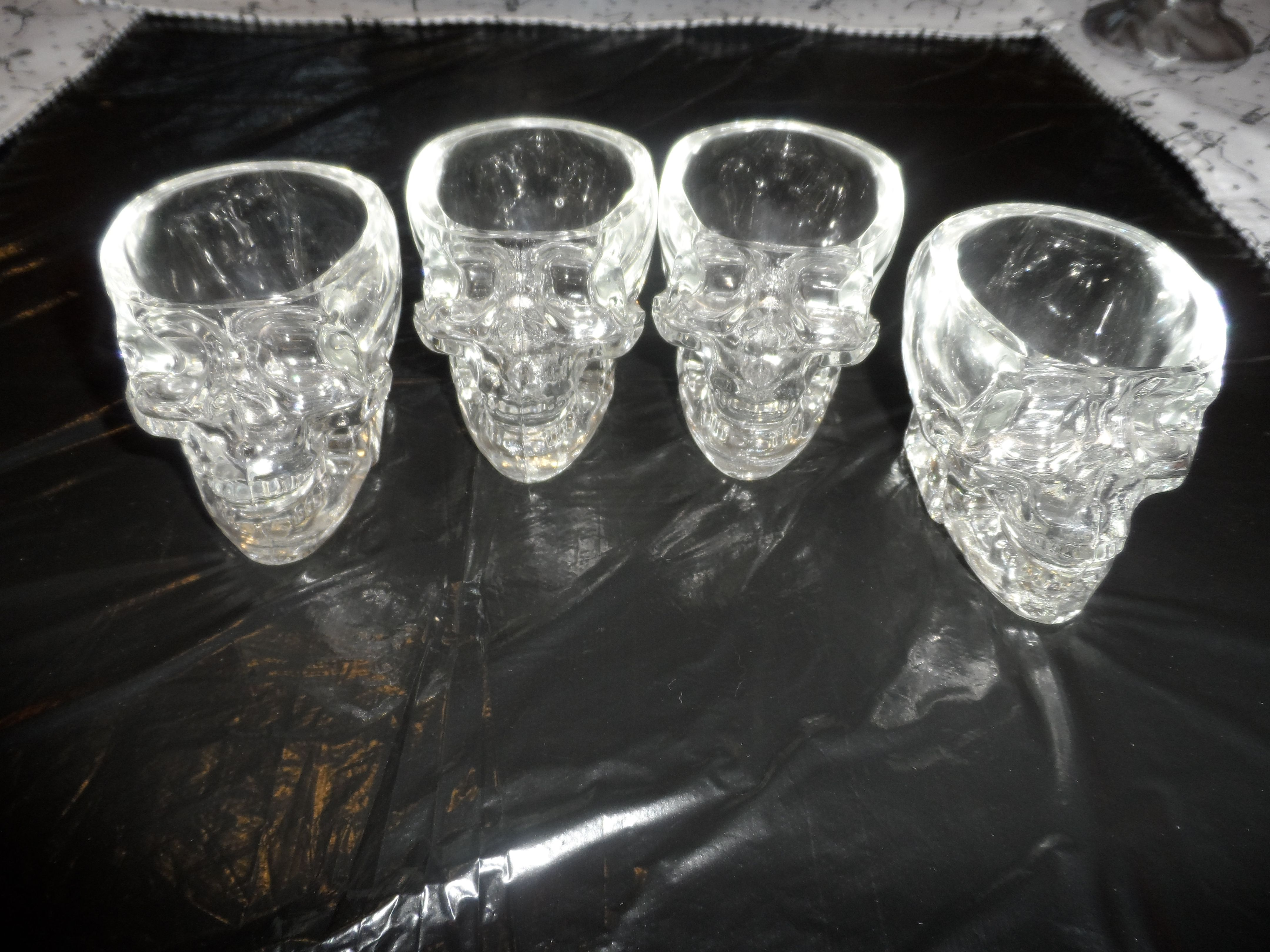 There are the 4 skulls I got for my birthday that came with the skulls full of vodka