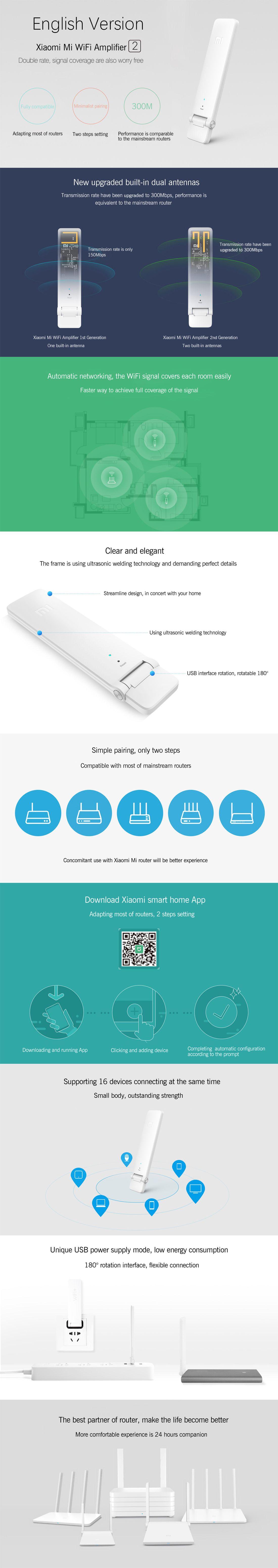 Xiaomi Mi 300Mbps WiFi Repeater 2 - English Version | Wifi