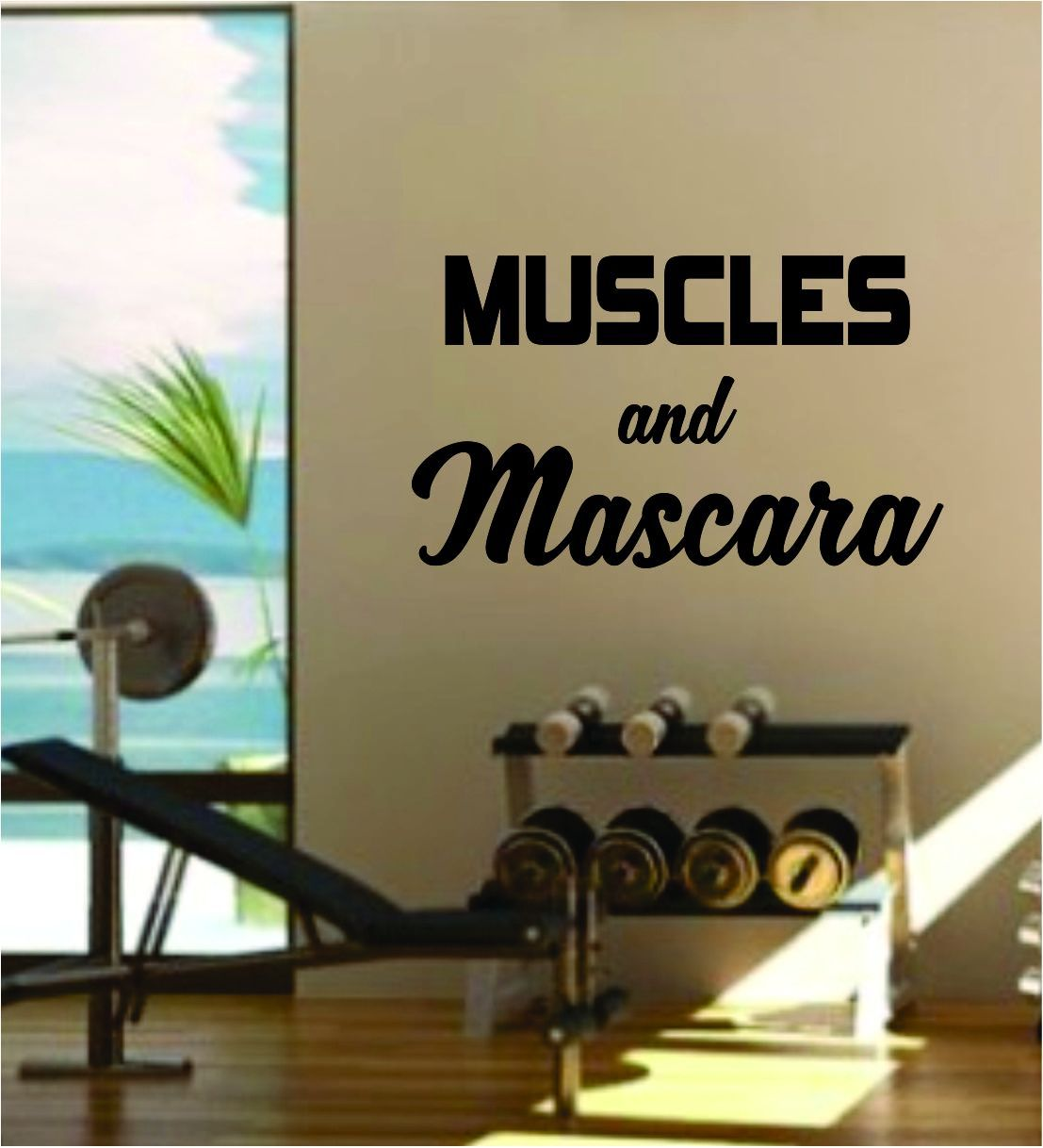 Muscles and Mascara Quote Fitness Health Work