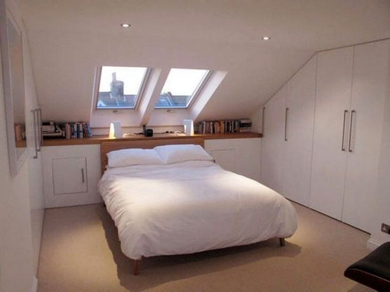 50 Cool Small Attic Bedroom For Your Home Bedroom Bedroomdesign Bedroomdesignideas Attic Bedroom Small Attic Bedroom Designs Small Attic Room