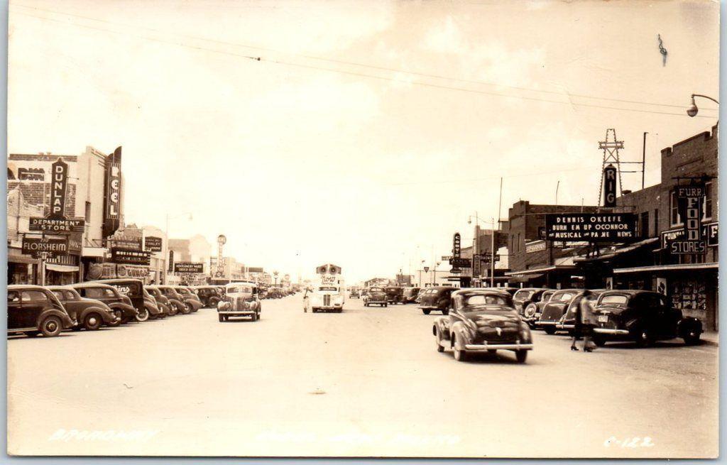 Broadway Street Hobbs Nm 1940 S Postcard Hobbs New Mexico Hobby Lobby Las Vegas