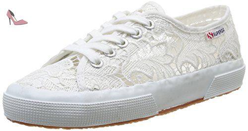 Superga 2750 Macramew, Chaussons Sneaker Adulte Mixte, Blanc (White), 35