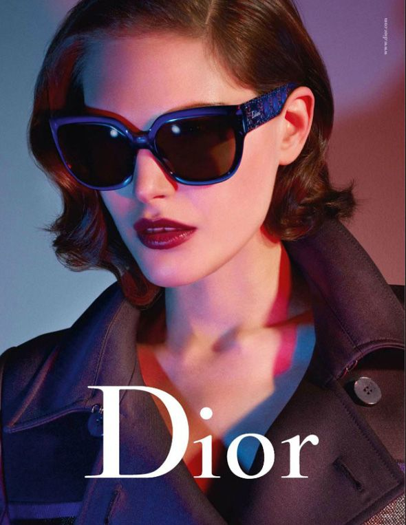 Catherine McNeil s retro glam look for Dior Eyewear SS 2013 ... adcc74486ca2
