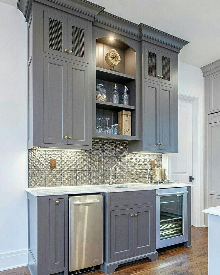 Transitional Family Home with Grey Kitchen