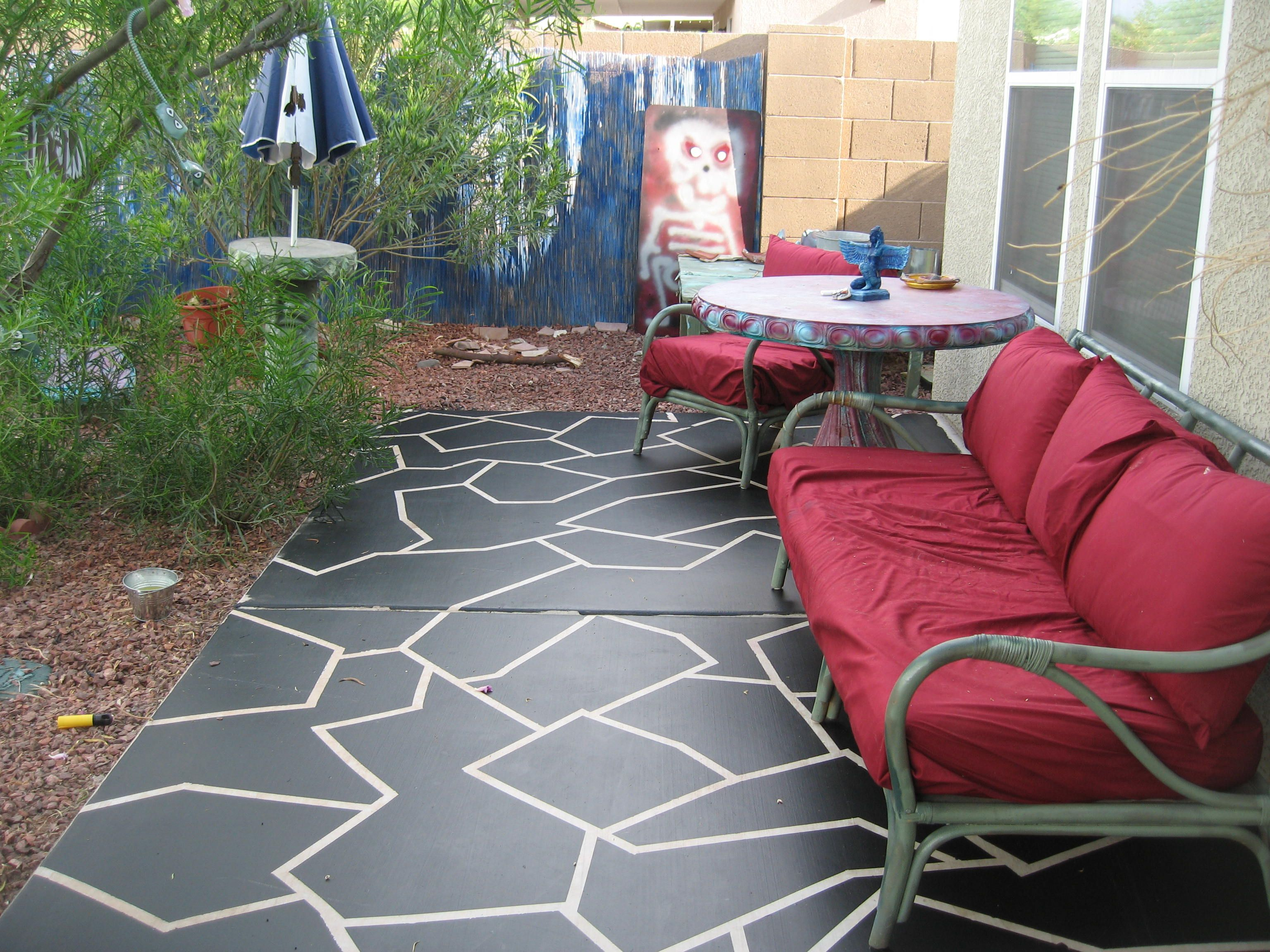 painting chalk design paint to home ideas floors porch patio or stencil outside how with images concrete redesign