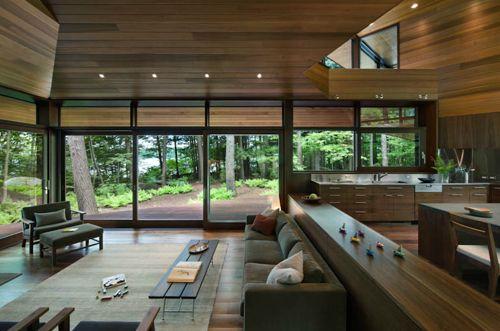 Design diary sleek cabin on squam lake by tom murdough stylecarrot also rh pinterest