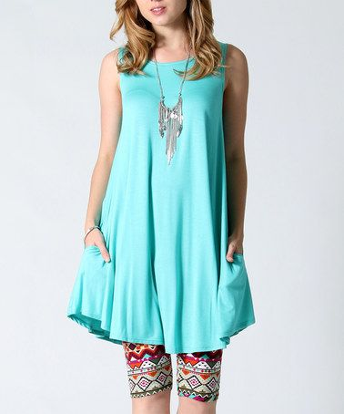 Another great find on #zulily! Aqua Side-Pocket Swing Tunic #zulilyfinds $18