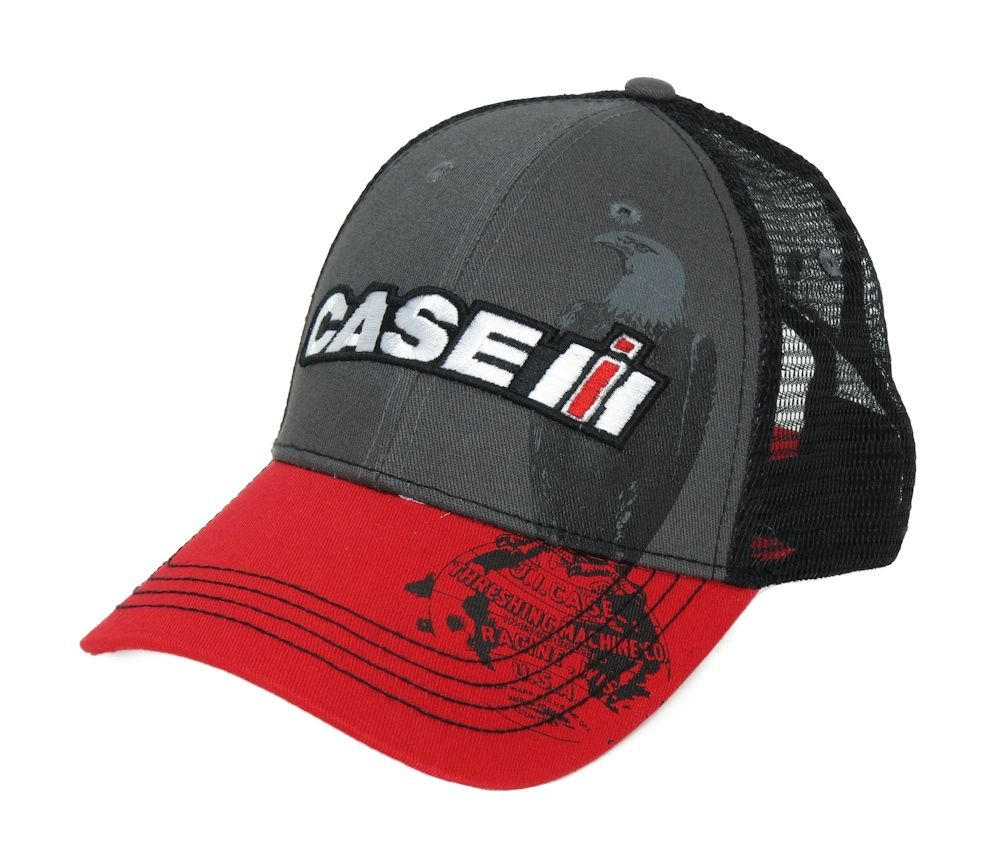 Case Ih Cap With Old Abe Eagle In Background Cap Red Bill Case Ih