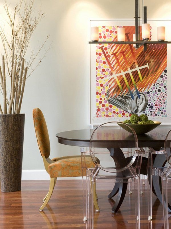 modern dining room ideas decorative bamboo poles