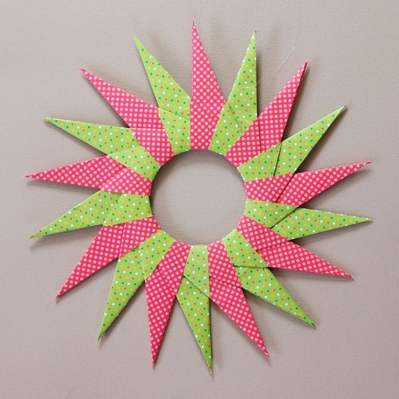 origami sterne falten faltsterne anleitung kostenlos fertig basteln paier origami sterne. Black Bedroom Furniture Sets. Home Design Ideas