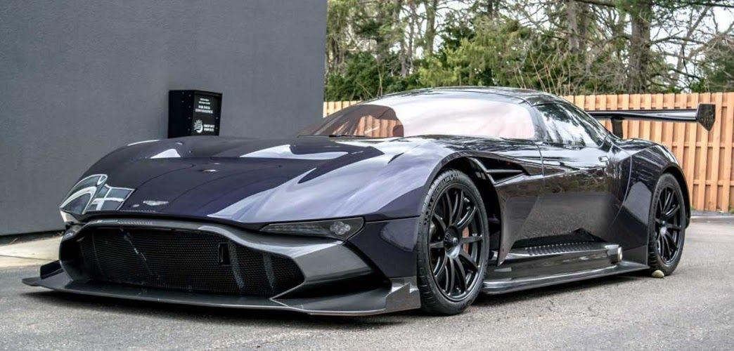 Dark midnight purple pearl Aston Martin Vulcan.                                                                                                                                                     More
