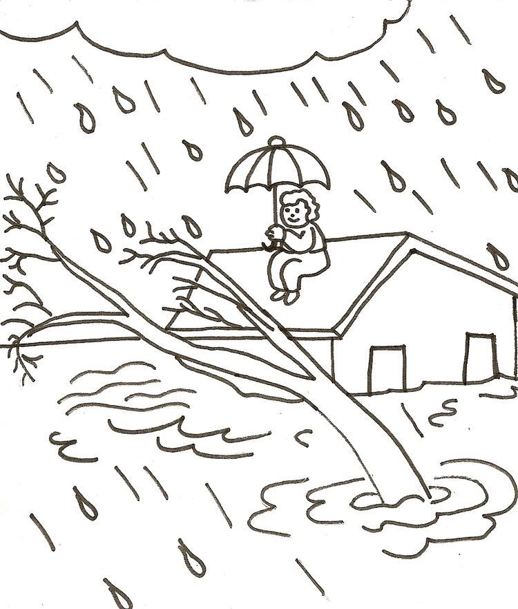Inundacion Coloring Pages Coloring Books Colorful Drawings
