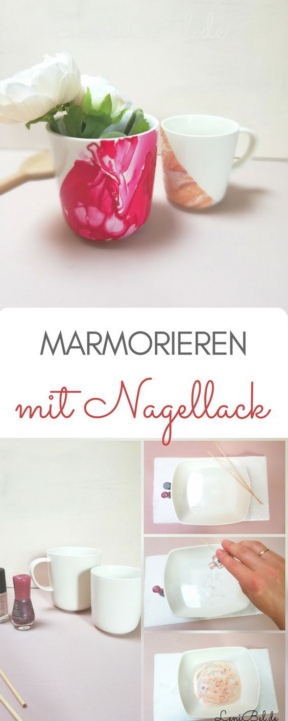 Marmorieren mit Nagellack - LeniBel | Nagellack, Nagellack
