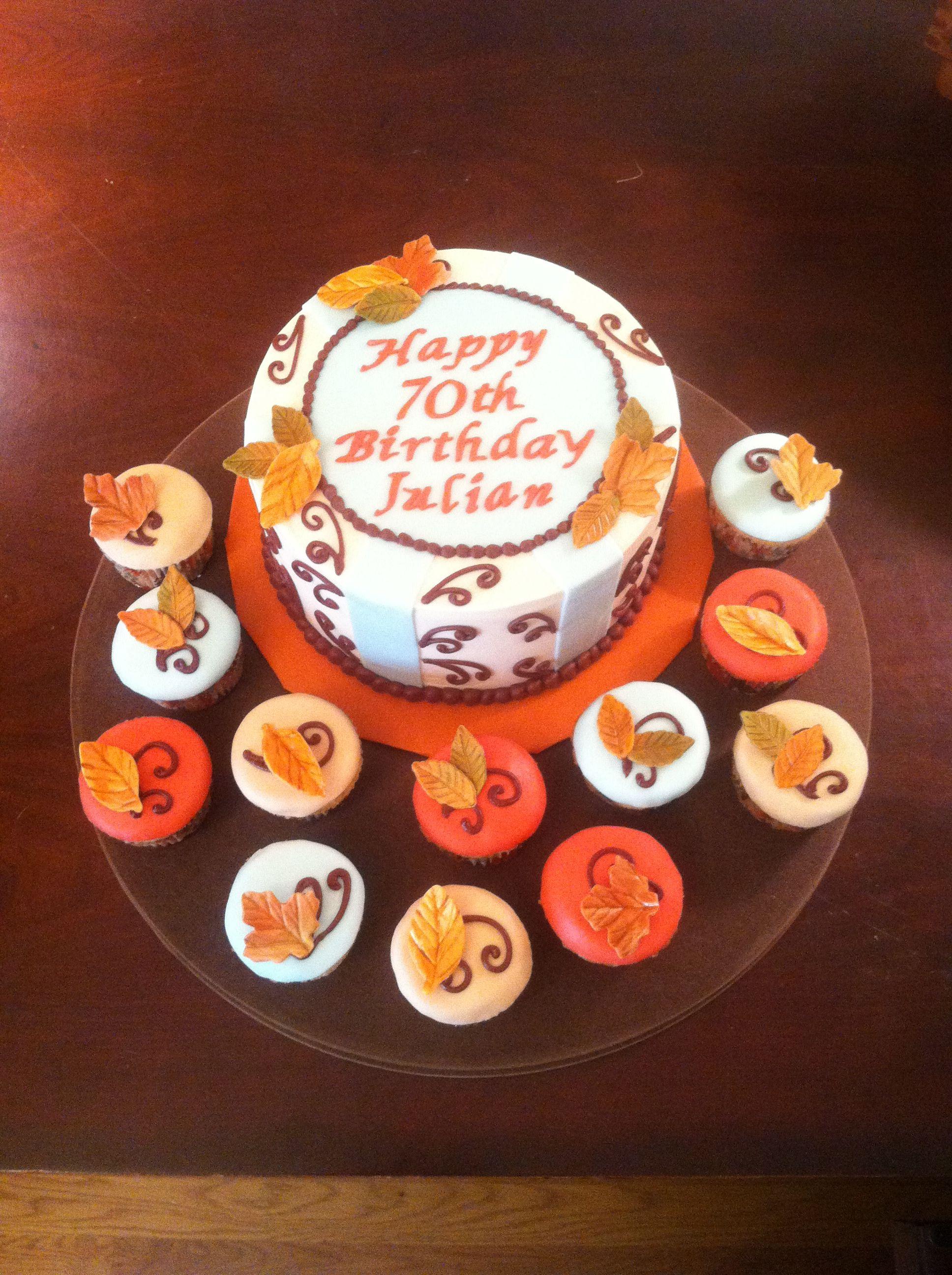 Autumn Birthday Cakes