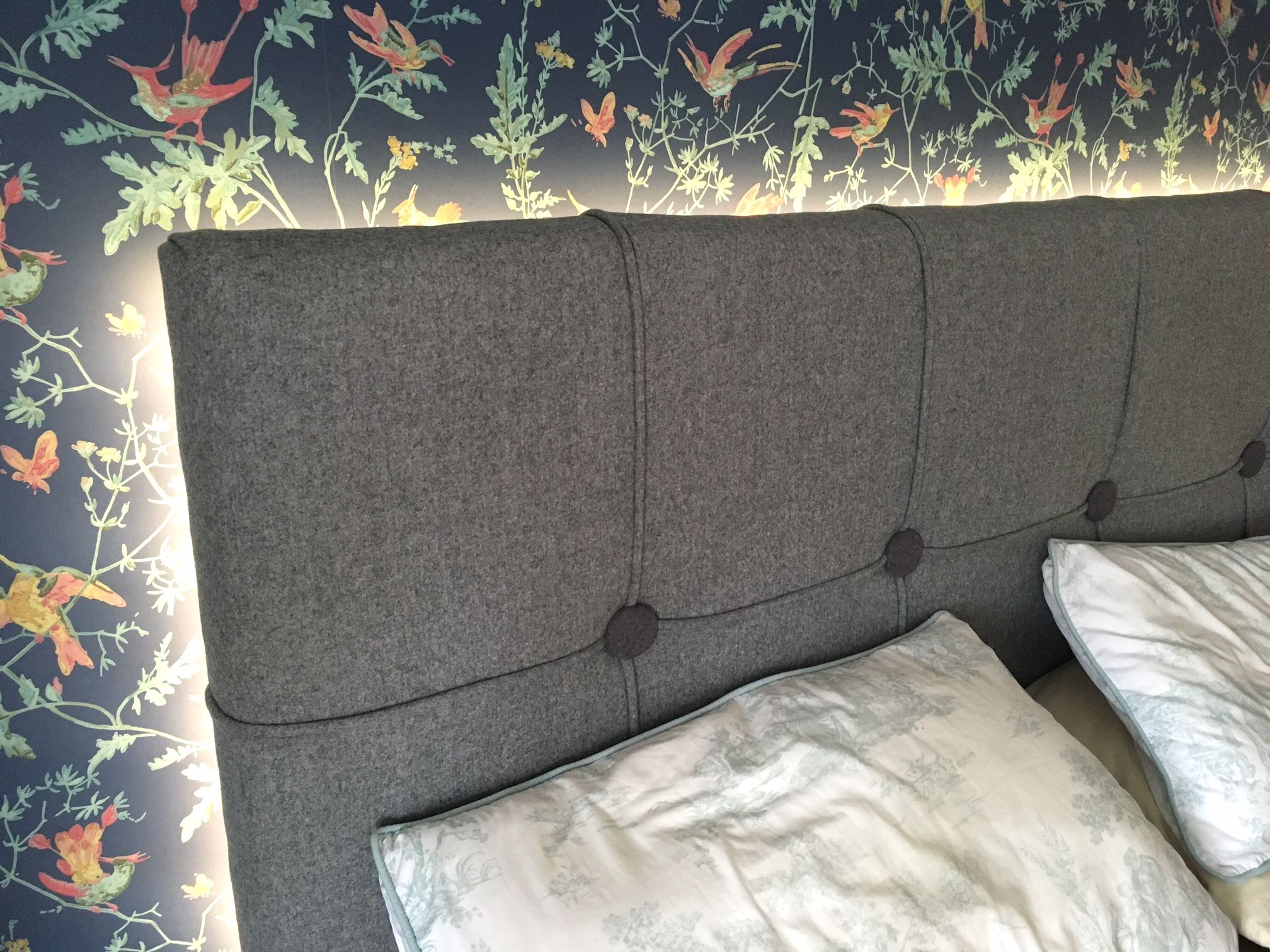 Make your own padded bed headboard with led lights interior design