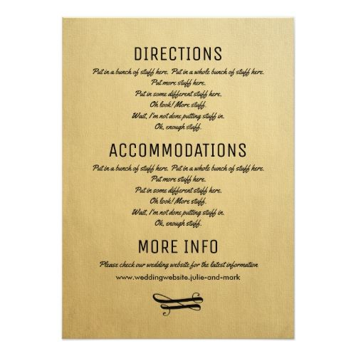 Wedding Details Card Vintage Invitation Insert Zazzle Com With