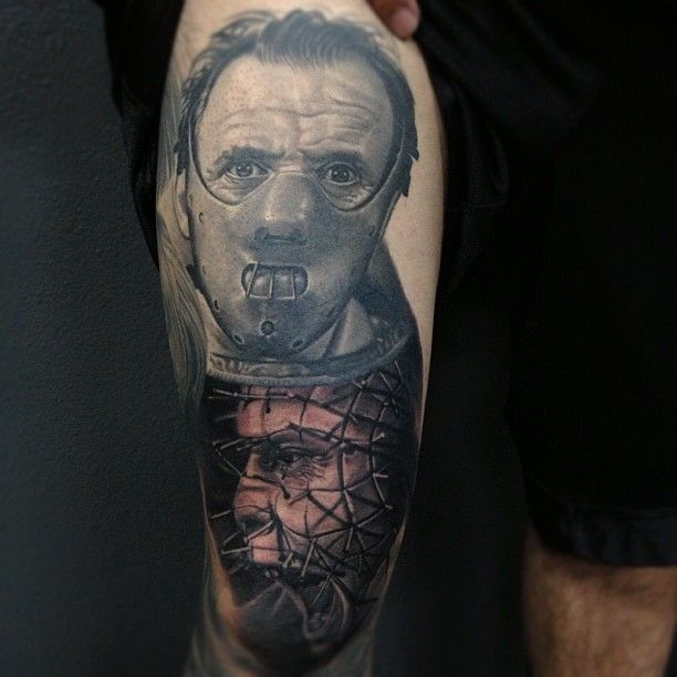 His Knee Is So Swollen Distorted The Pinhead Hellraiser Tattoo