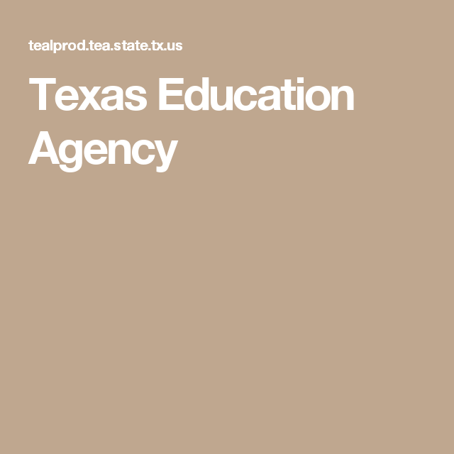 education texas agency tx tea state
