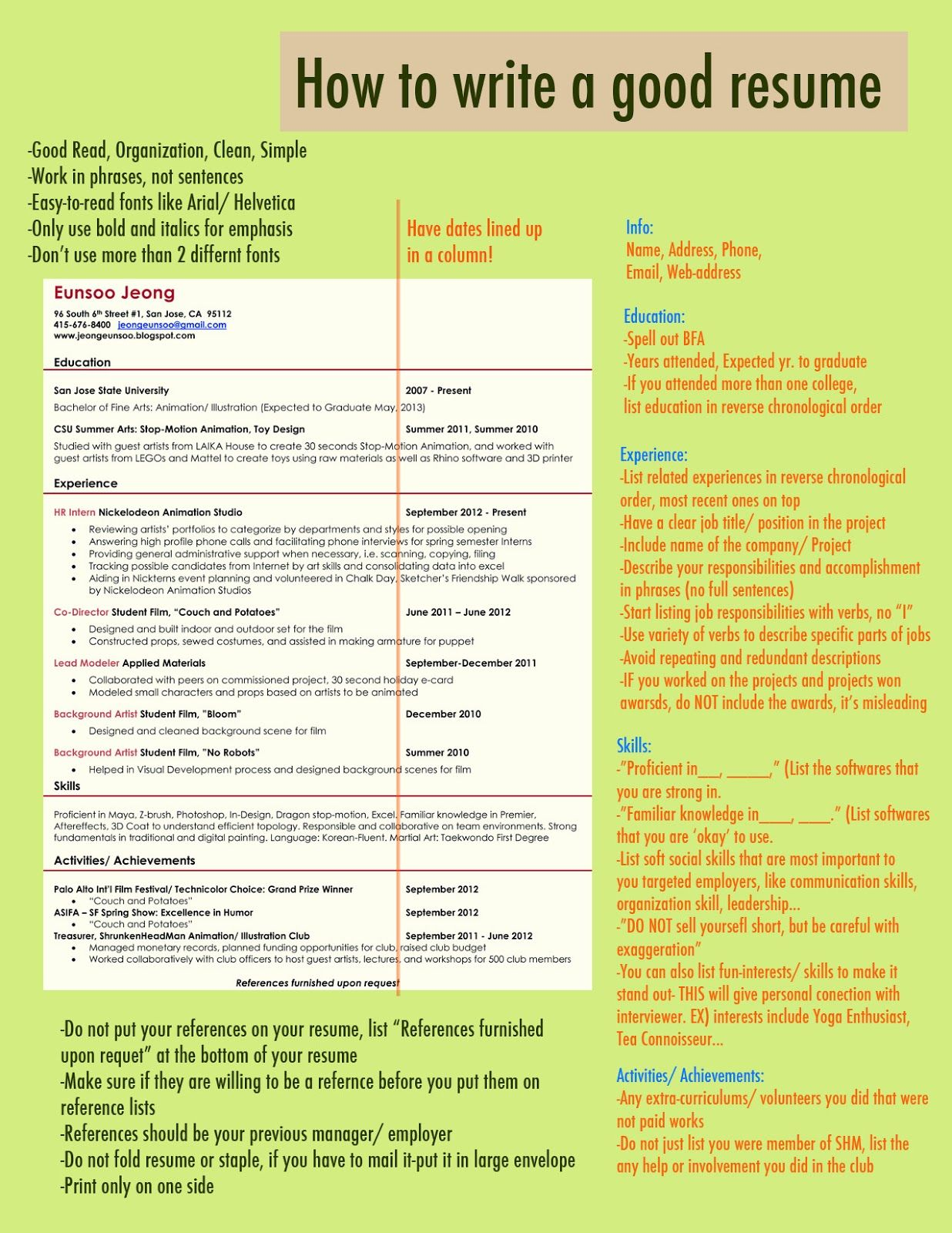 Staple resume and references vocabulary for education essay