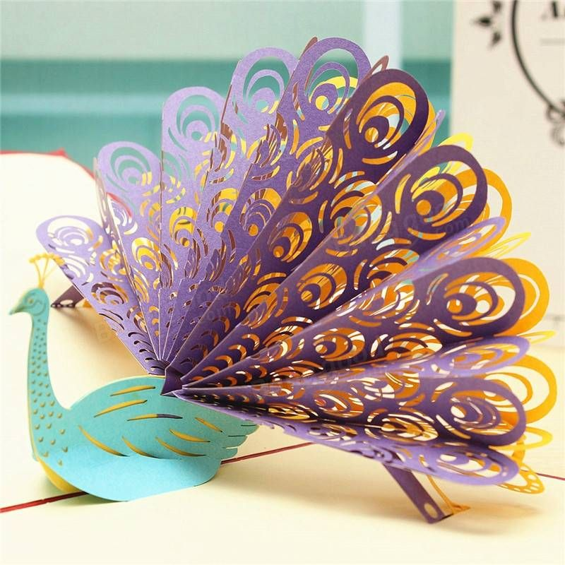 Peacock 3D Pop Up Birthday Greeting Birthday Card Gifts Festival