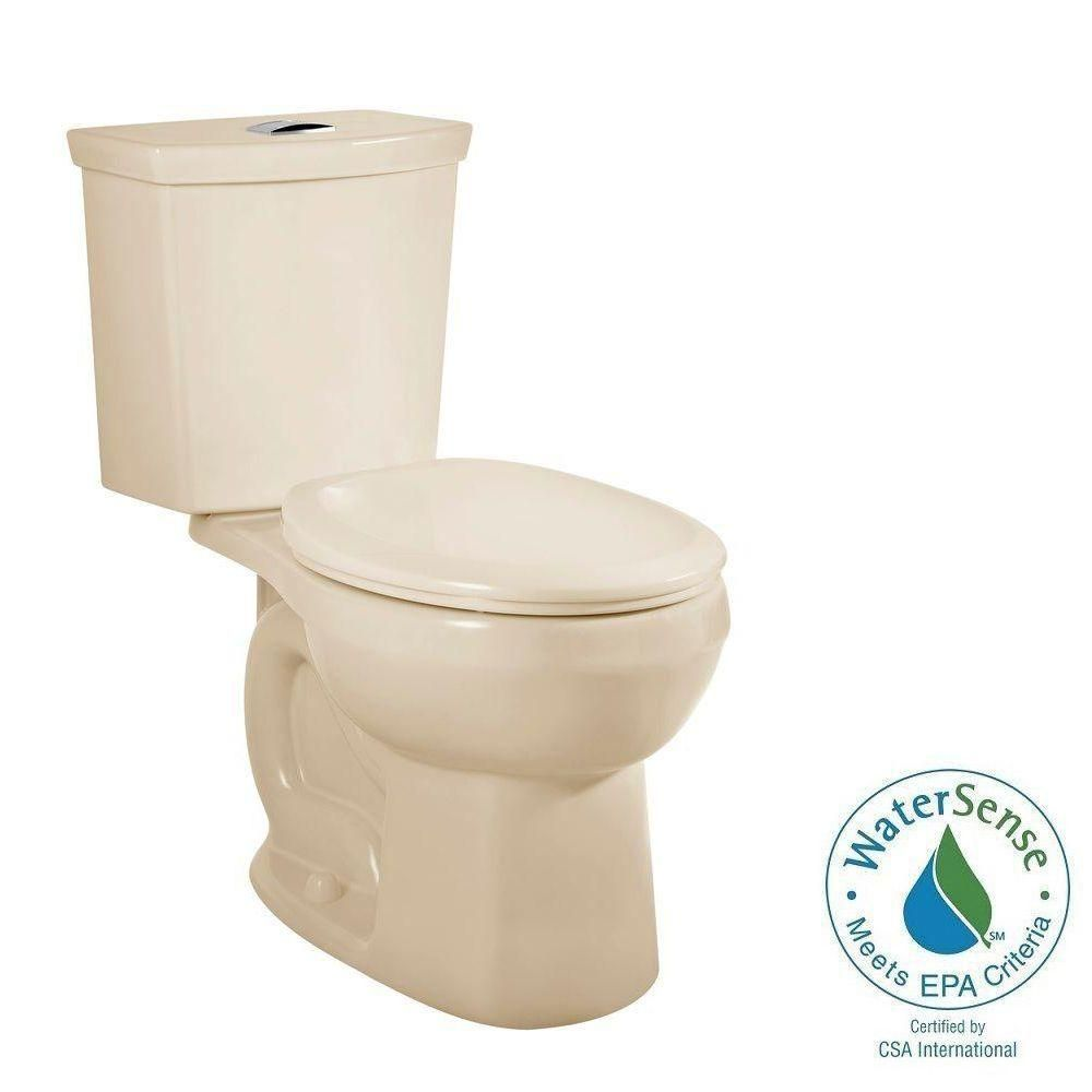 American Standard H2option 2 Piece 0 92 1 28 Gpf Dual Flush Round Front Toilet In Bone Seat Not Included 2889218 021 Toilet Small Toilet American Standard
