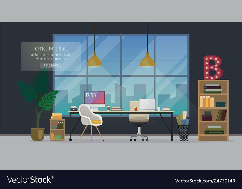 Design Of Modern Office Designer Workplace Creative Office