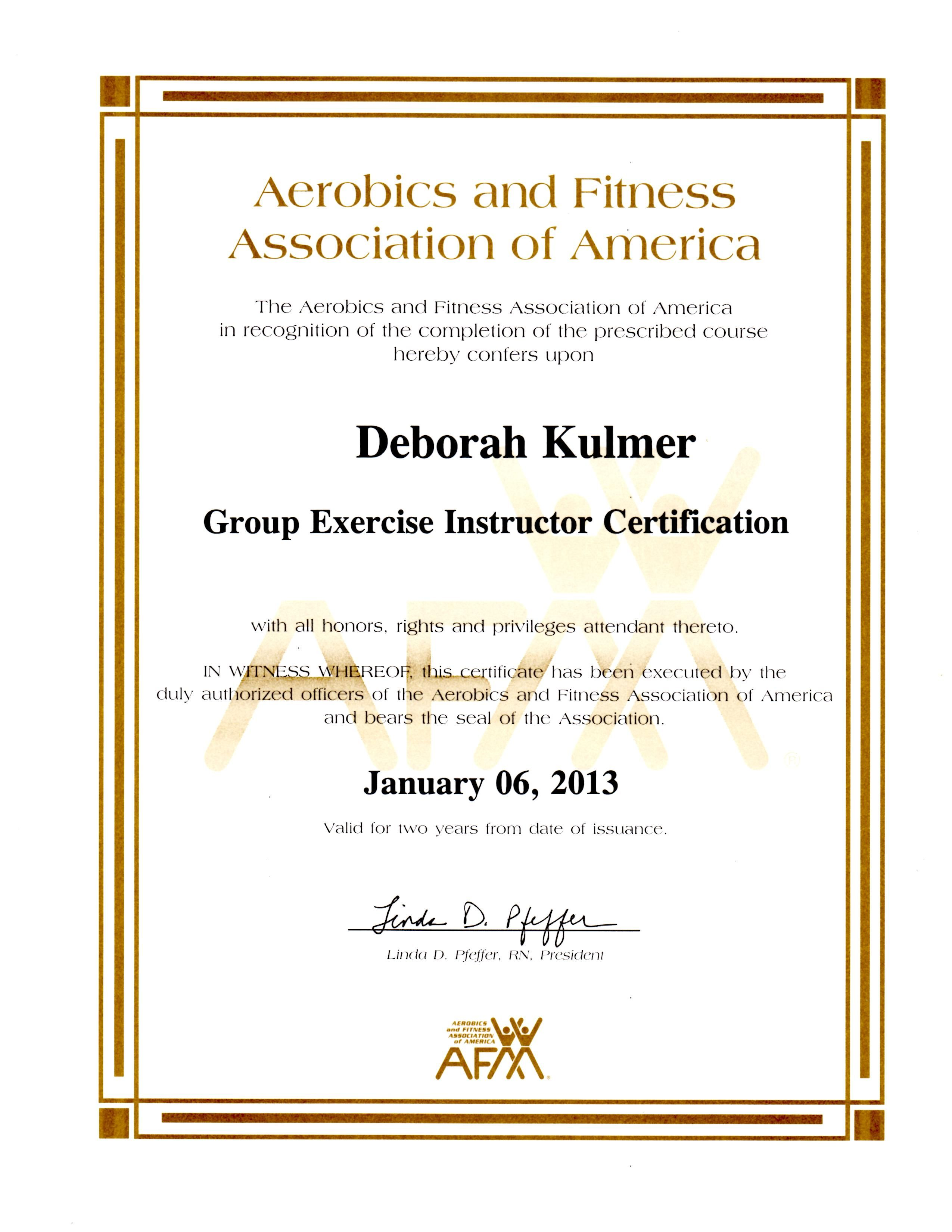 Aerobics And Fitness Association Of America Group Exercise