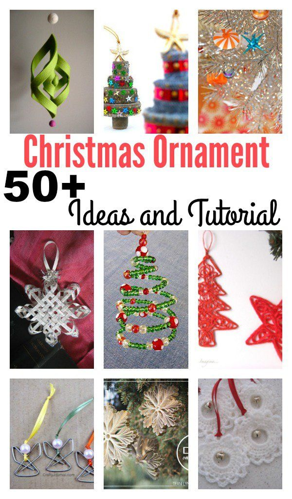 50+ Creative DIY Christmas Ornament Ideas and Tutorial DIY - christmas decorating ideas