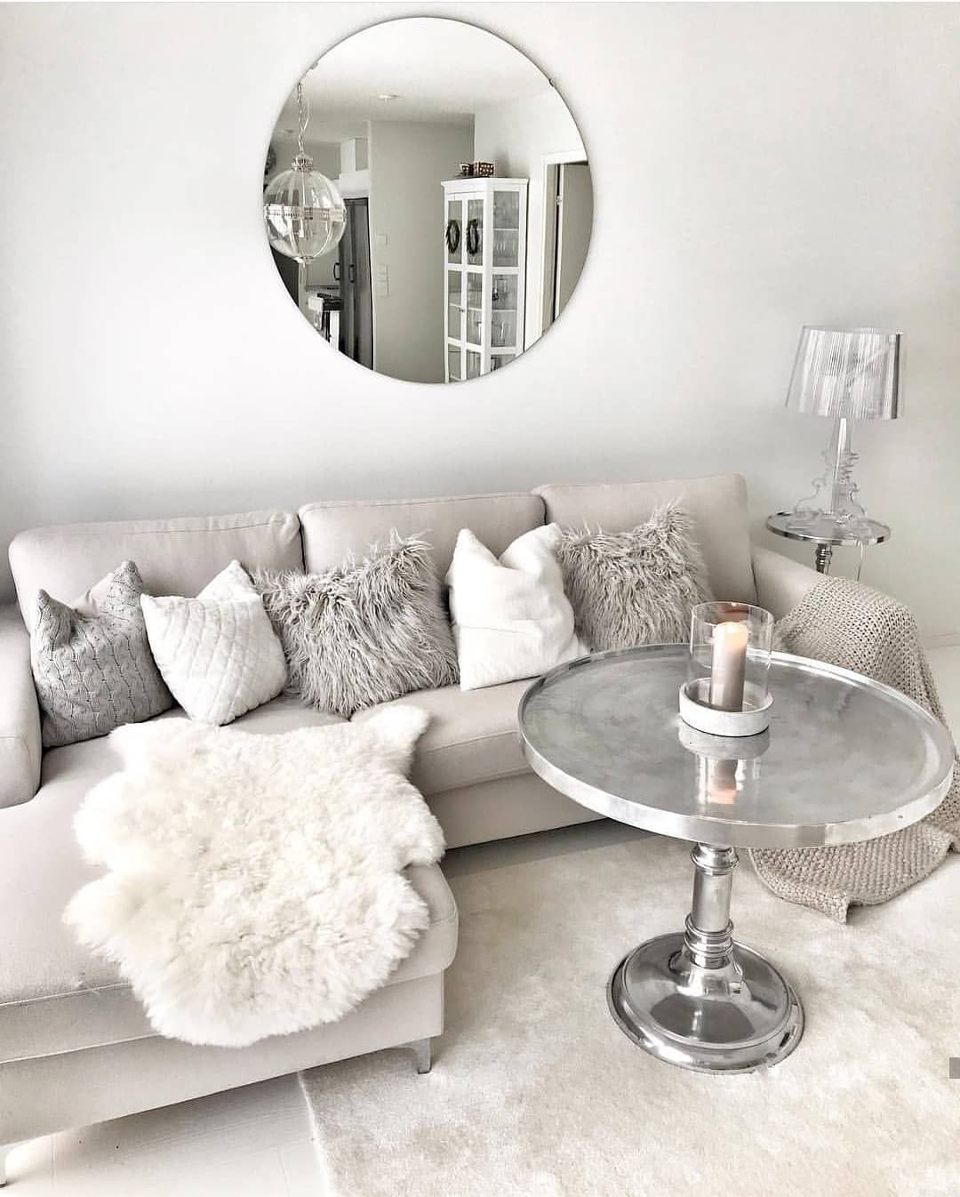 white and silver living room ideas