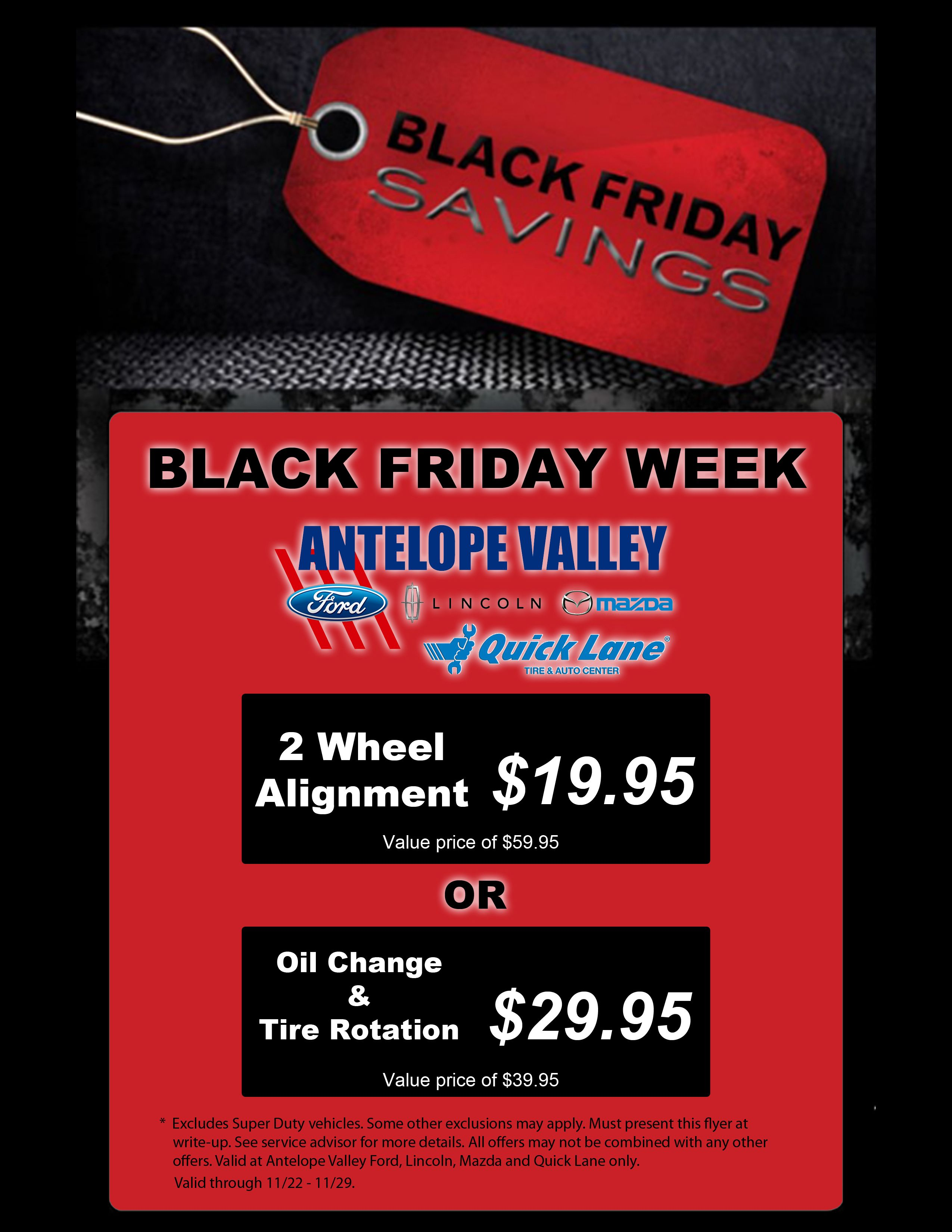 Black Friday Week 11 22 11 29 Only Valid At Antelope Valley Ford