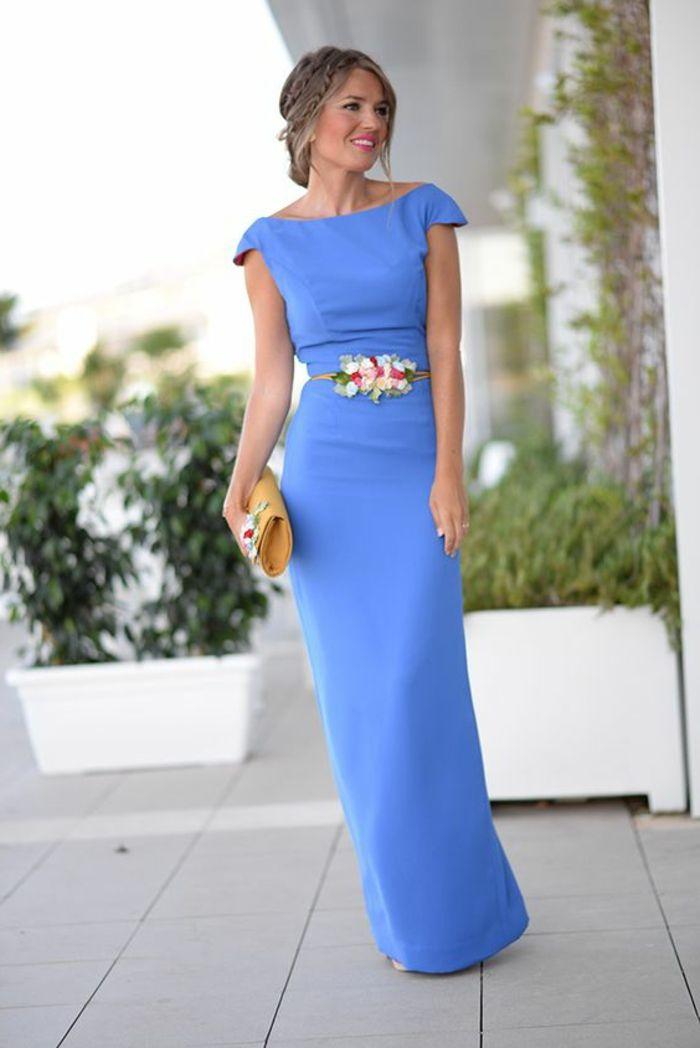 Robe de ceremonie femme bleu