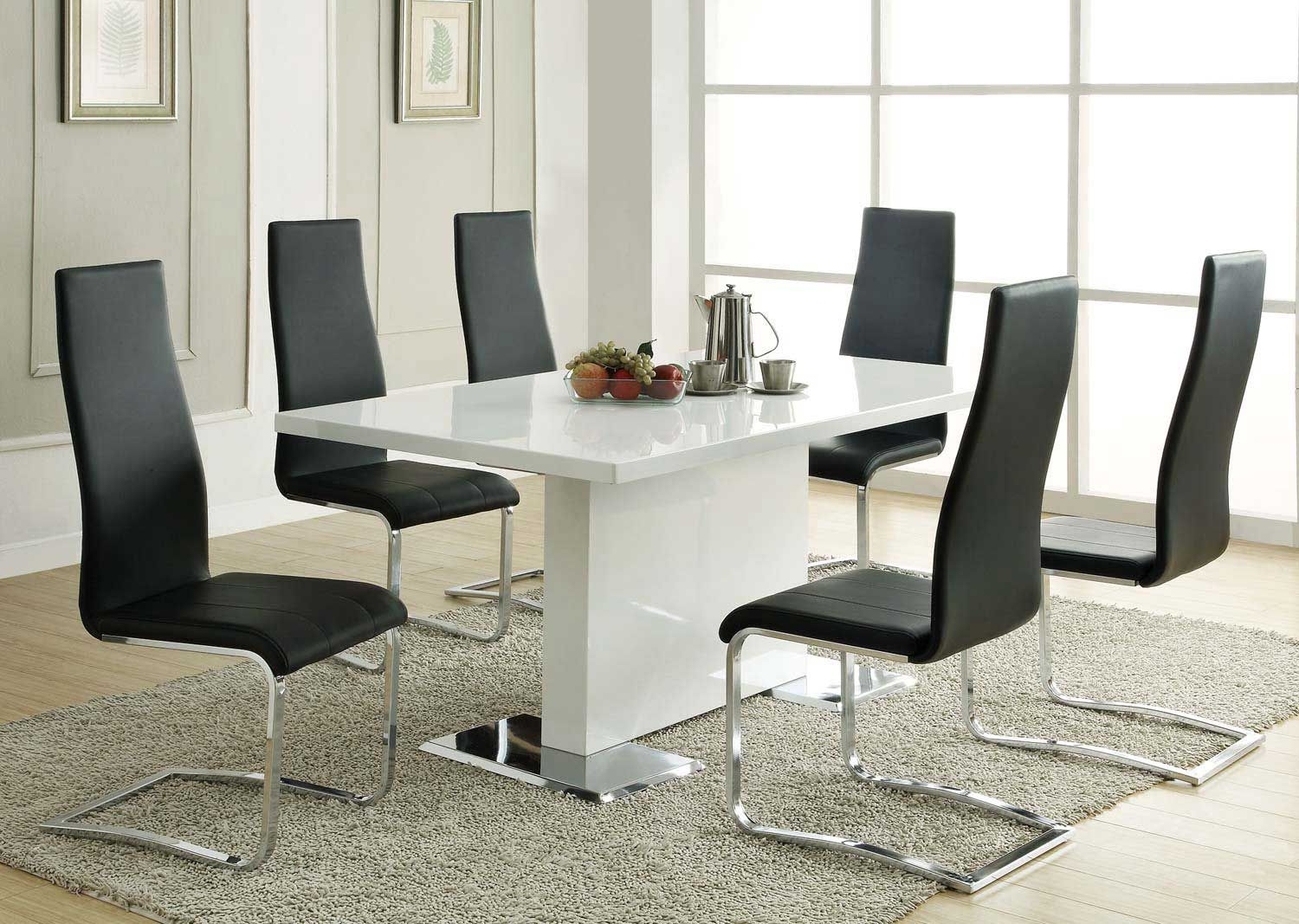 Coaster Mix Match White Dining Set Black Chair With Images