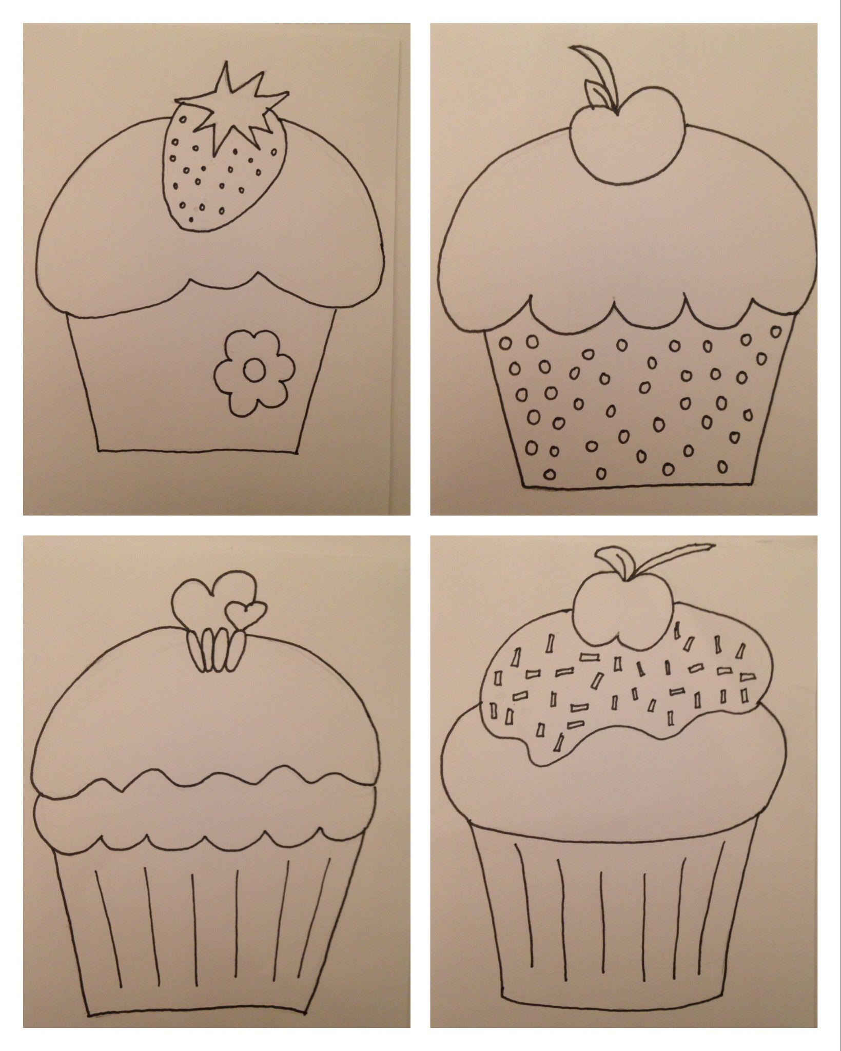 diy geburtstagskarten mit cupcake vorlagen selber machen. Black Bedroom Furniture Sets. Home Design Ideas