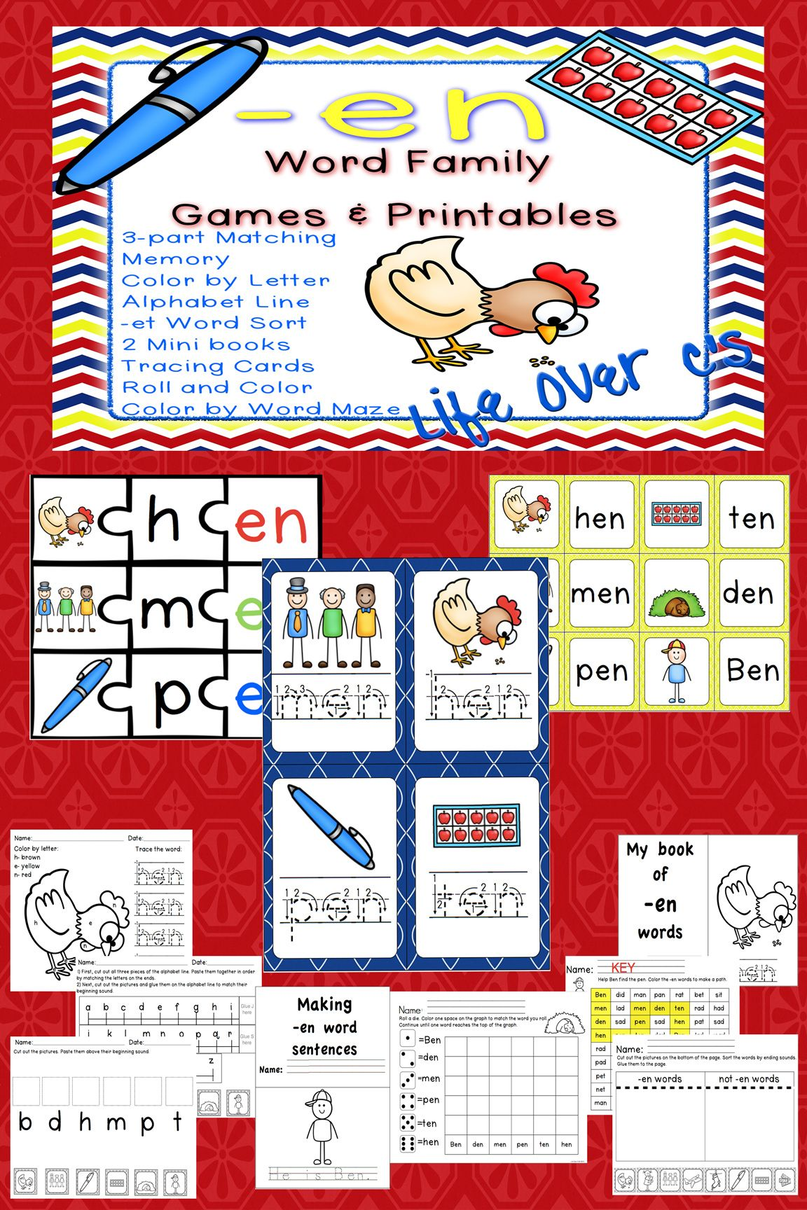 en CVC Word Family: 10 great activities to help your students learn ...