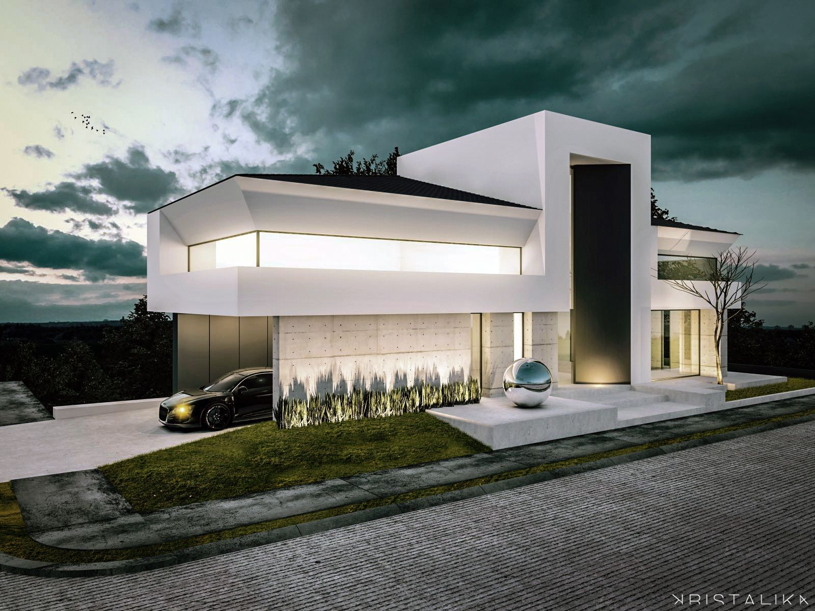 Roman house kristalika arquitecture and interior design for Modern roman villa house plans