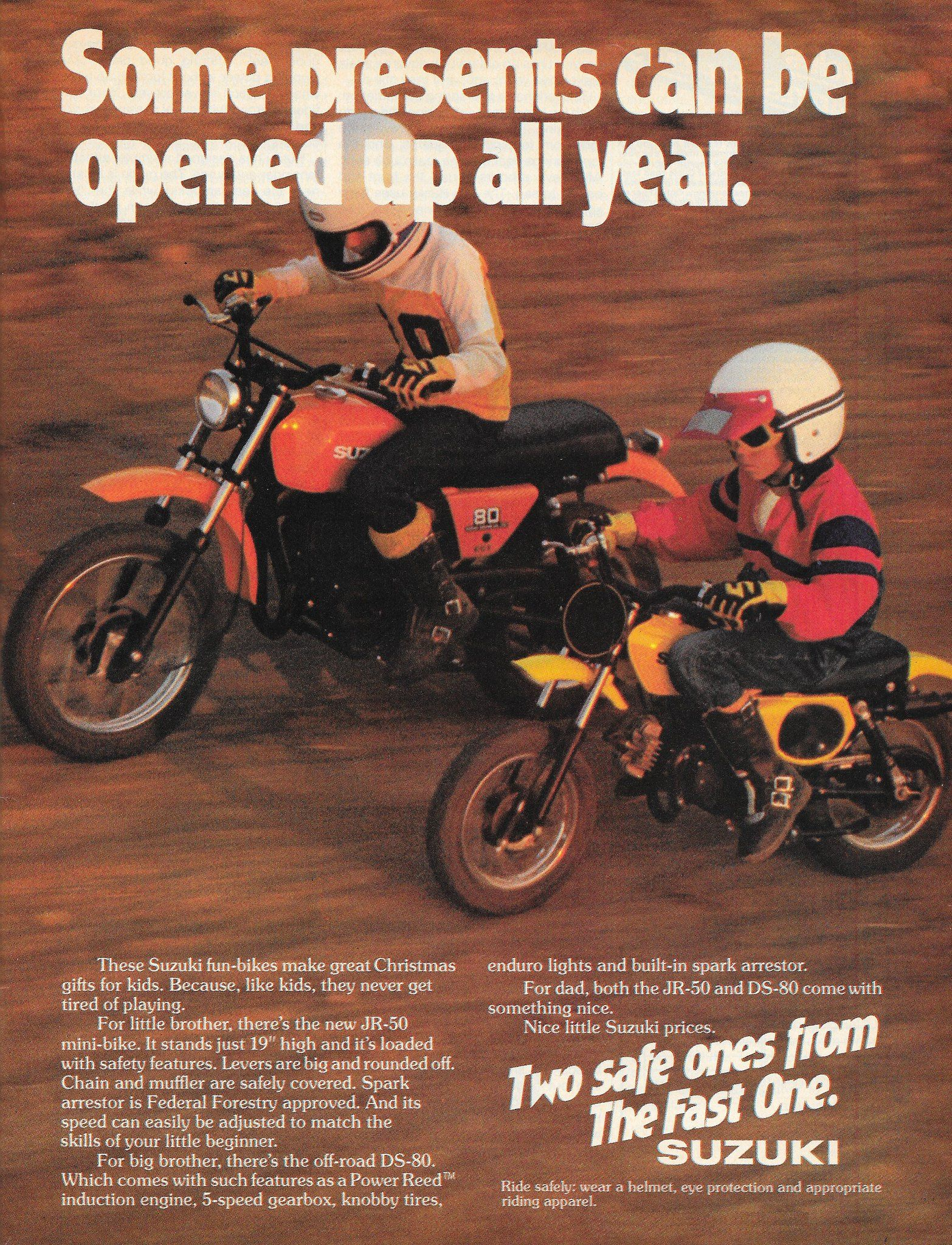 Suzuki Jr50 Ds80 Suzuki Motorcycle Racers Car Ads