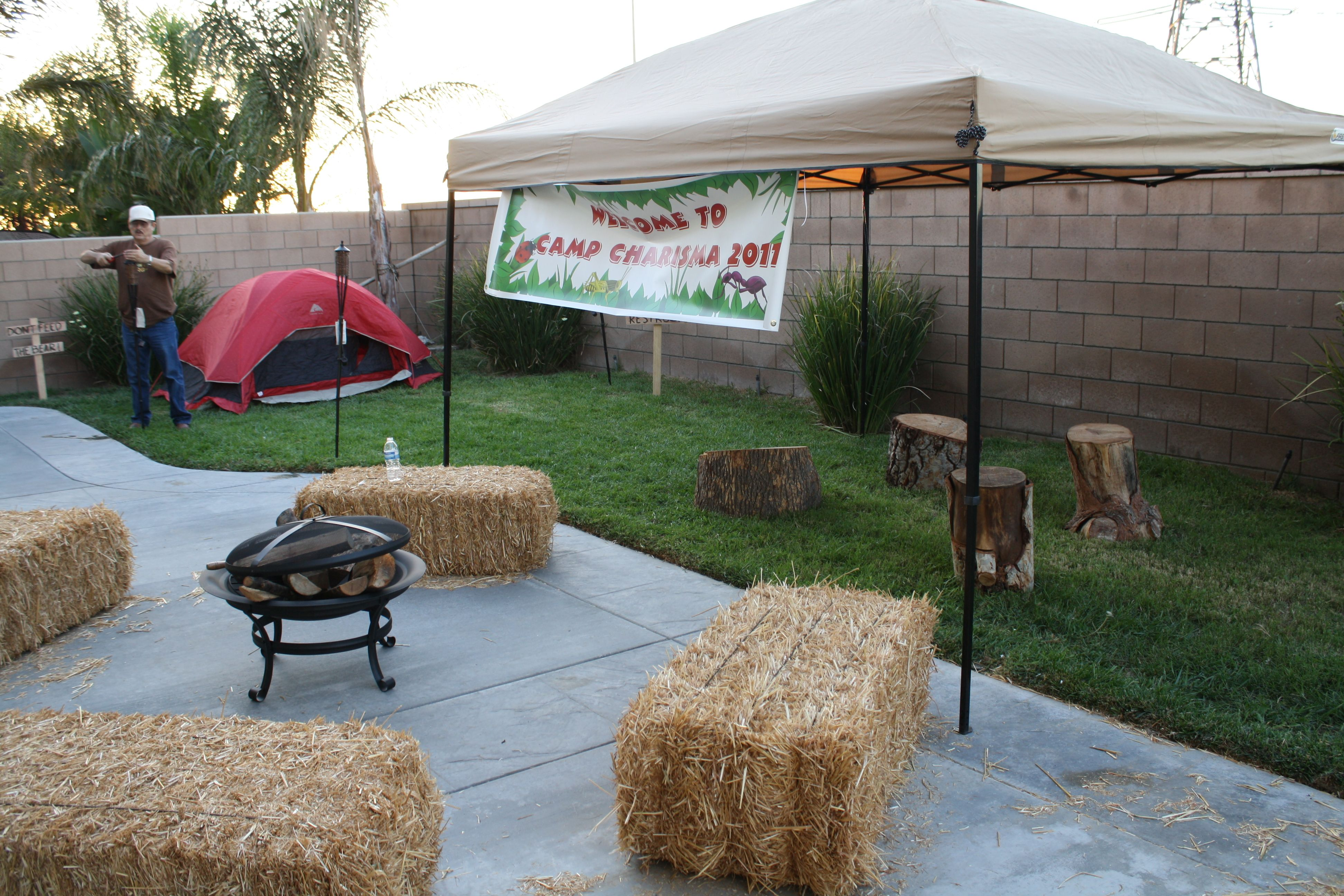 camp party decor my creations pinterest camping parties
