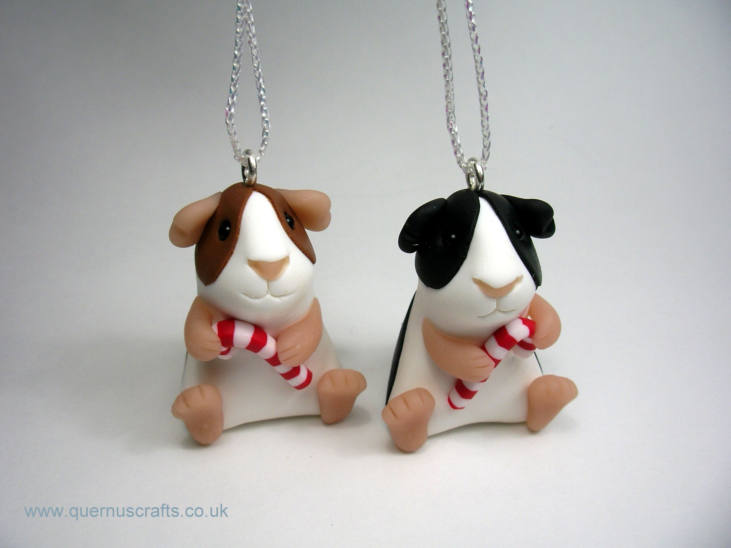 Little Candy Cane Guinea Pig Tree Decoration (£25)